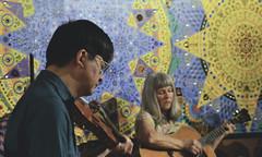 Rich Mnt Celtic Harry and Joyce (wildrosetn39) Tags: guitar stage band music irishmusic friends manipulationfaces netartii harryslastshow fiddle richmountainceltic