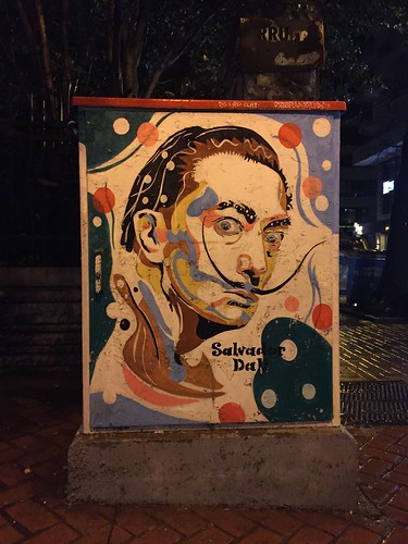 art on what I believe are electrical boxes in Tirana
