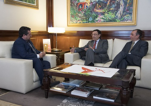 Sebastián Pla y Salvador Navarro se reúnen con el Presidente de la Diputación de Castellón