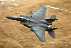 HUMIDITY (Dafydd RJ Phillips) Tags: ln202 lakenheath slow shutter fast jet fighter afb base air force usaf united states f15 f15e eagle strike low levelmach loop mach level snowdonia 48th wing