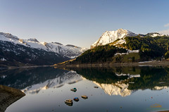 Sonnenaufgang am Wägitalersee, Schweiz, Schwyz