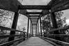Wooden bridge (Juan Galián) Tags: bridge puente lineas convergencia murcia monochrome monocromo bw blancoynegro blackandwhite