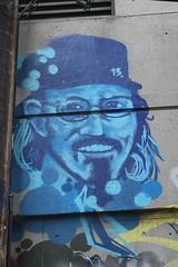 The Blue Man (jmaxtours) Tags: vancouver vancouverbc vancouverbritishcolumbia bc britishcolumbia graffiti streetart art alley
