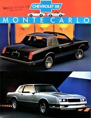 1988 Chevrolet Monte Carlo LS & SS Coupes (Canada) (aldenjewell) Tags: 1988 chevrolet monte carlo 2door ls ss coupe brochure canada