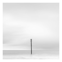 Alone (Minibert93) Tags: beach blackwhite bigstopper sky clouds minimalist bird canon longexposure seascape ireland