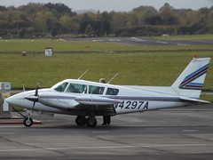N4297A Piper Twin Comanche PA-39 Southern Aircraft Consultancy Inc Trustee (Aircaft @ Gloucestershire Airport By James) Tags: gloucestershire airport n4297a piper twin comanche pa39 southern aircraft consultancy inc trustee egbj james lloyds