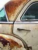 Follow My Curves (Maureen Bond) Tags: maureenbond ca automobile classic vintage car curves chrysler rusty crusty patina windows glass chrome handle