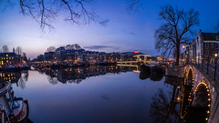A0081991 (rpajrpaj) Tags: magerebrug canal city cityscape bluehour amstel carre samyang fisheye 75mm samyangcsc75mmf35umcfisheyemft thebluehour