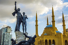 Martyrs (thefeverhead) Tags: lebanon mosque church martyrsstatue beirut