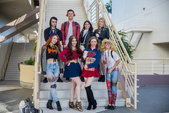 LBCE 2018-0799 (J. Aaron Delgado) Tags: cosplay longbeach california unitedstates us cosplayers long beach comic expo con convention marvel dc comics supergirl batman harleyquinn harley quinn super 2018 lbce