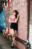 (q920318) Tags: 陳奕潔 可愛 制服 美女 女神 正妹 人像 人 台灣 台北市 外拍 戶外 氣質 汽車 樹 路 單車