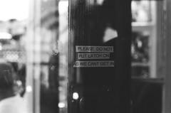 Welsh language (Jim Davies) Tags: olympus om10 slr 50mm ferrania p30 film filmfilmforever analogue photography veebotique 35mm 35mmfilm blackandwhitefilm bw blackandwhite monochrome uk wales summer july 2017 dwr gwynedd borthygest seaside beach porthmadog welsh language cymru