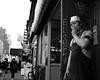 Busboy smokebreak (Zach K) Tags: busboy worker restaurant manhattan nyc eighth avenue smoker break smokebreak dirty hard service industry new york city bw black white fujifilm fuji x100f acros cig streetphotography street candid