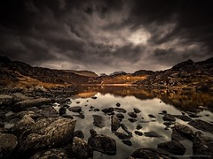 Blackbeck Tarn (Richard Walker Photography) Tags: stormy lakedistrict rocks landscape nature clouds warnscale lake snow storm mountains longexposure cumbria reflection buttermere