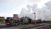 Kidderminster arrival 17th March 2018 (davids pix) Tags: 1501 hawksworth pannier tank 1450 collett preserved gwr steam locomotive double headed passenger train kidderminster station severn valley railway 2018 17032018
