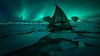 Tines Northern lights (Ebeltoft Photography) Tags: tisnes tromsø northernnorway northernlights aurora auroraborealis moody boat shipwreck longexposure polorizing