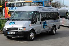 LSL, Chippenham YIW 9195, Ford Transit outside Cheltenham racecourse (majorcatransport) Tags: wiltshirebuses ford fordtransit cheltenham lslchippenham