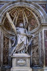 Statue des Andreas (Markus Wollny) Tags: city vatikan rom cittàdelvaticano vatikanstadt it