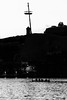 Up an Down (lorenzoviolone) Tags: agfascala200 bw blackwhite blackandwhite boat crane d5200 dslr monochrome nikon nikond5200 reflex silhouette vsco vscofilm waves kayak marina night sea seaside streetphoto streetphotobw streetphotography travel:malta=aug2016 water waterfront ilbirgu malta