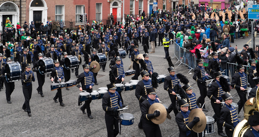 Legacy High School Lightning Marching Band [St. Patricks Day Parade 2018 In Dublin]-137533