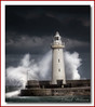The Convention (Deek Wilson) Tags: donaghadee donaghadeelighthouse lighthouse tide hightide irishsea roughsea wave weather countydown storm seascape northernireland landmark