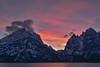 Sunset over the Tetons (Cape Arago Photographer) Tags: tetons grandtetonnationalpark jennylake wyoming