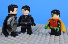 What is Happening Here?! (-Metarix-) Tags: lego minifig batman dc comics comic bruce wayne catwoman selina kyle custom minfigs rebirth universe