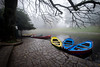 (fernando_gm) Tags: braga portugal europa europe colour color agua water niebla fog fujifilm fuji xt1 1024mm blue yellow azul amarillo airelibre paisaje landscape lago lake tree arbol travel trip artistic