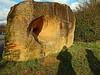 Lending an ear (Antropoturista) Tags: germany saarland gau steineandergrenze sculpture border art shadows