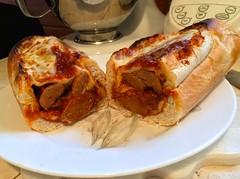Italian Sausage Sandwich (Key West Wedding Photography) Tags: sausage sausagesandwich italianfood homemade homemadefood iatethis keywest florida cayobo helenbo