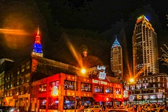harry_buffalo (gerhil) Tags: cityscape travel cle cleveland downtown night lights architecture building bar restaurant club skyline