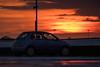 Reading Oracle   Car Park Sunset (James_Beard) Tags: nissan nissanmicra sunset dusk reading theoracle carpark shoppingcentre gold orange yellow red