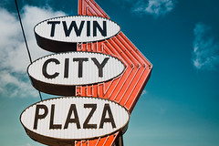 Twin City (hartsaw) Tags: twincityplaza grafton wisconsin neon sign signage vintage signswitharrows