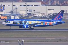 20180325_OO-SND (sn_bigbirdy) Tags: ebbr bru zaventem brusselsairport frontpark1 fp1 oosnd brusselsairlines airbus a320 a320200 aerosmurf takeoff
