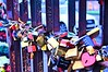 Locked love (Pictures in my head) Tags: germany visit country discover explore berlin city trip with friends students history art locked love colors metal photography wall