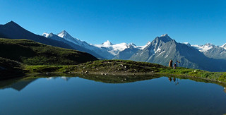 Summer morning on the Alps