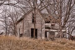 Decaying Farmhouse (nikons4me) Tags: iowa ia poweshiekcounty oldhouse abandoned abandonment decay decaying farmhouse nikond200 nikonafsdx18200mmf3556gifedvr spring overcast overgrown oncewashome