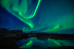 The Northern Lights (Tony_Brasier) Tags: icecold lovely lights iceland green mountains nikon lake stars fantastic