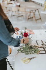 FotoPlus_MirandaHackett_flowers-43 (foto_plus) Tags: fotoplus kinga miranda hackett flowers florist workshop making table fotonow ocean studios ray royal william yard