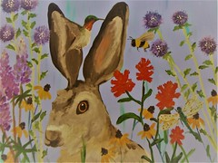 Bunny Art (Mr. Happy Face - Peace :)) Tags: rabbit easter art2018 drawing sketch painting pastels unknown acrylics weekend art happyeaster artforfun abstract floral bird paint honeybee butterfly nature hummingbird greetingcard