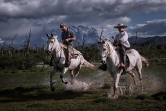 The gauchos (Gerry Lefoe) Tags: red patagonia horses gauchos andes chile