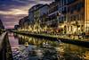 Una tarde cualquiera (libretacanaria) Tags: milán milano navigli atardecer sunset noche