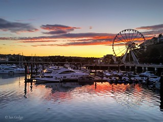 Harbour and Wheel at Dusk (explored)