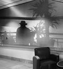 The Return of Lamont Cranston (johngpt) Tags: shadows appleiphone7plus wall places atwork albuquerque newmexico unitedstates us sliderssunday hss