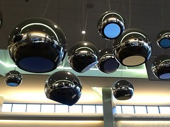 Sky (ColFineArtistMar1) Tags: art photograph sanfrancisco airport installation perception space mirrored spheres reflections distort reproduce