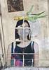 Corny Street Art (cowyeow) Tags: china street chinese asia asian 香港 hongkong sheungwan city urban composition graffiti wall streetart weird funnyhongkong painting art corn woman girl faceless