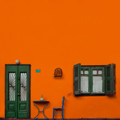 The small cage / La gabbietta (Giorgio Ghezzi) Tags: cage gabbia window finestra door porta giorgioghezzi table tavolo
