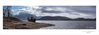 Ship wreck at Loch Linnhe, Corpach, Fort William, Scotland.