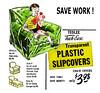 Plastic  Slipcovers, 1950 (JFGryphon) Tags: plasticslipcovers uncomfortable ridiculousinnovation savework savetime savemoney advertisement 1950 sticky chaircovers