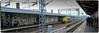 Traction (2) (Peter Leigh50) Tags: nuneaton drs engine locomotive 37 class 374 station platform railway train railroad rail people passenger fujifilm fuji
